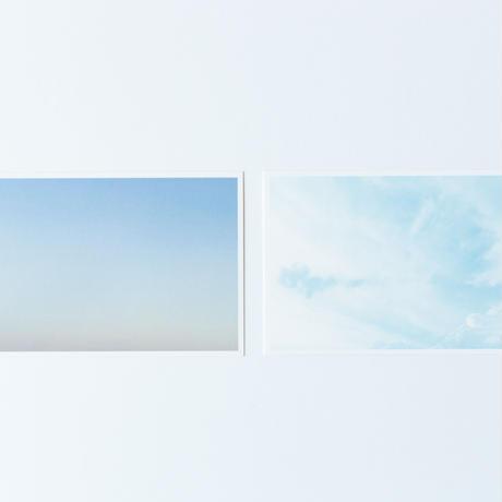 残数僅か・「写真と木と空と」postcard 2枚・南三陸杉カードスタンドセット/送料込