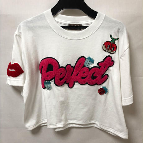 strawberry white tee