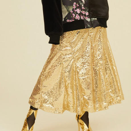 Luxury skirt gold