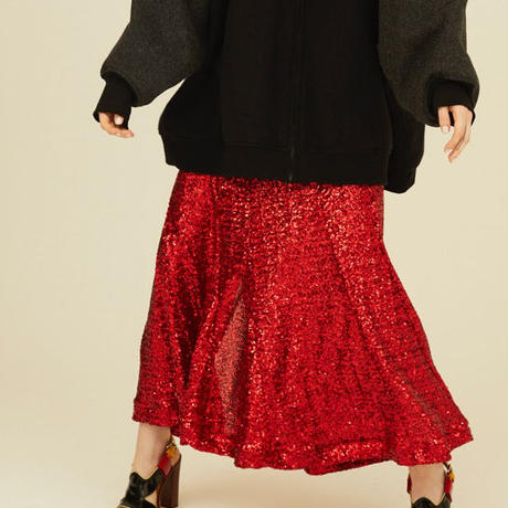 Luxury skirt red
