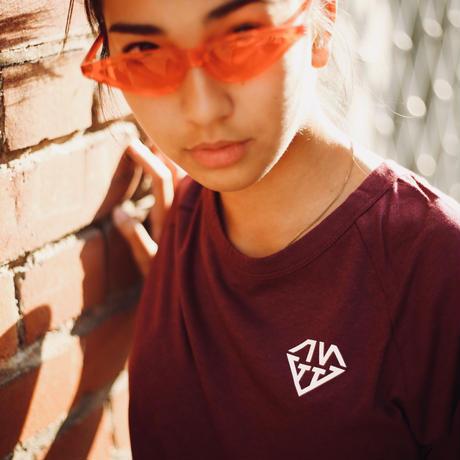 IVTT Diamond Logo Raglan Tshirt  :Wine Red