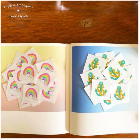 Pastel rainbow/Anchorイカリマーク:ステッカー
