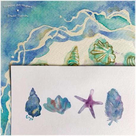 青の貝達ポストカード