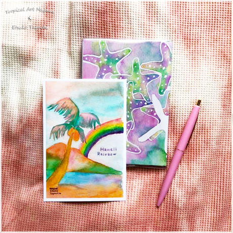 Hawaiirainbowレトロカラーポストカード