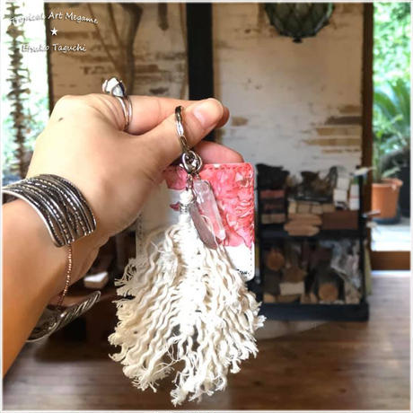marino ×Etsu Key ring with mini mirror