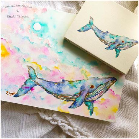泳ぐクジラちゃんB キャンパス