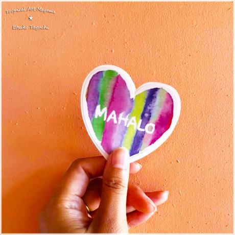MAHALO ステッカー2色