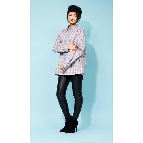 DASADA チェックシャツ 【ベージュ×ブルー】(D-026)