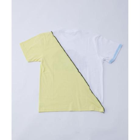 DASADA リバースバイカラーTシャツ【イエロー】(D-008)