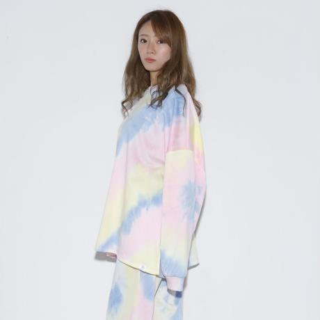 DSD ルームウェア上【タイダイ(ピンク×ブルー×イエロー)】(D-028)