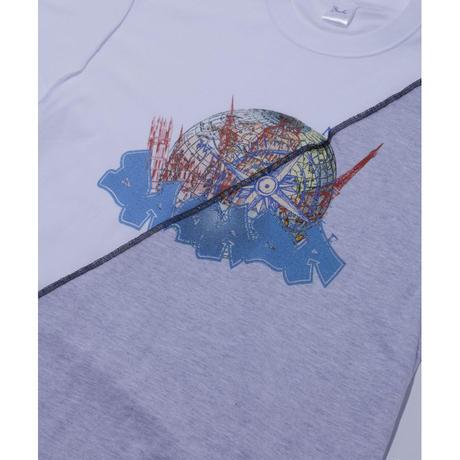 DASADA リバースバイカラーTシャツ【グレー】(D-008)
