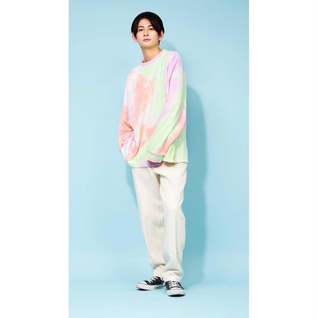DSD ルームウェア上【タイダイ(オレンジ×グリーン×パープル) 】(D-028)