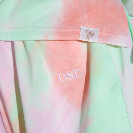 DSD ルームウェア下ロング【タイダイ(オレンジ×グリーン×パープル) 】(D-029)