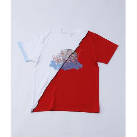 DASADA リバースバイカラーTシャツ【レッド】(D-008)