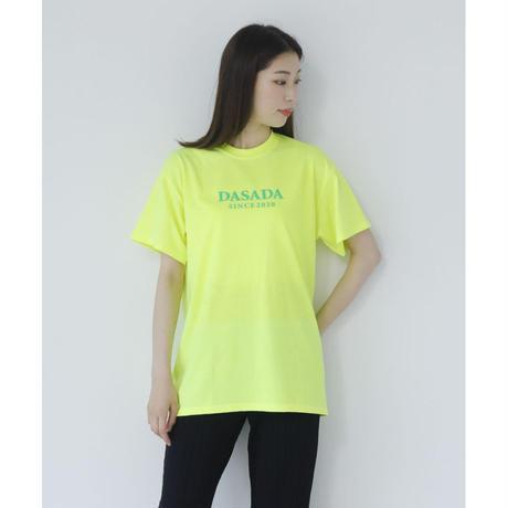 DASADA SINCE2020 Tシャツ【ネオンイエロー】(D-015)
