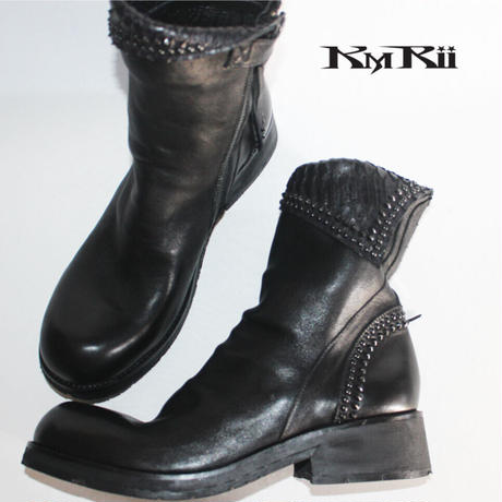 KMRii ・ケムリ・CRUSH SHORT BOOTS・ショートブーツ