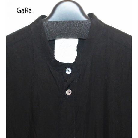 Ga_Ra・ガラ・G19F-201BK・ゆったりシャツ・スタンドカラーBlack