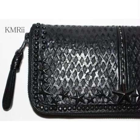 KMRii (ケムリ) 長財布 WR-BLACK STAR