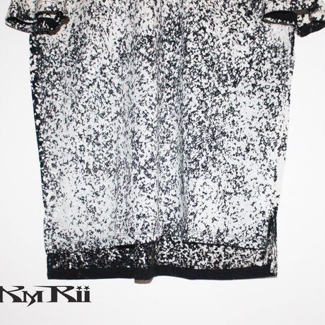 KMRii ・ケムリ・Discharged Cut/A/W・ カットソー・White・SS