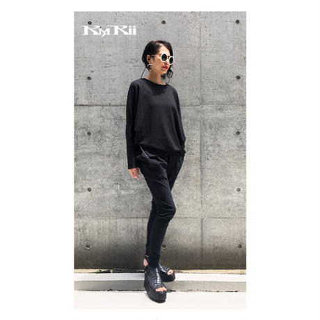 KMRii ・ケムリ・Jersey Dolman Top・ カットソー・Black・ドルマンスリーブ