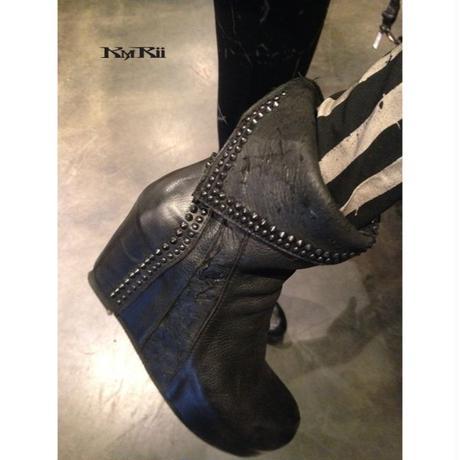 KMRii ・ケムリ・CRUSH SHORT BOOTS・LADIES ブーツ