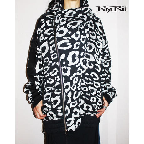 KMRii ・ケムリ・Fooded Leopard Blouson・Man's ・ブルゾン