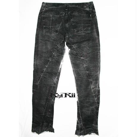 KMRii (ケムリ)パンツ Coating Crush Pants 01・パンツ
