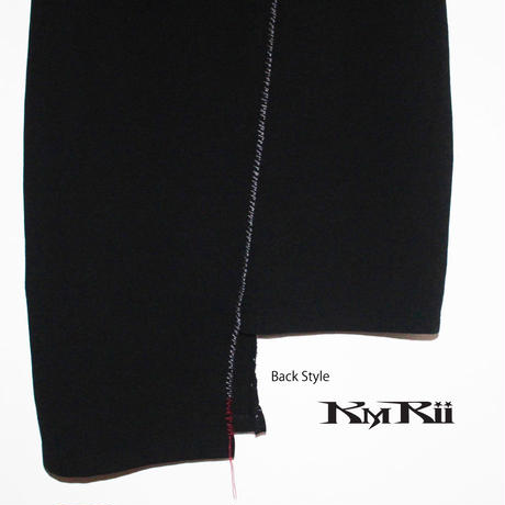 KMRii ・ケムリ・Double Stitch Cut02/SGL・ レディースカットソー・Black