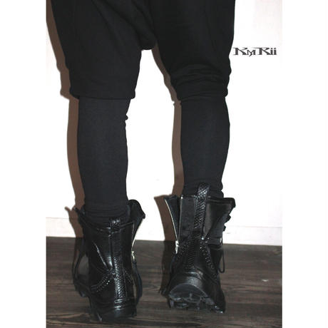KMRii ・ケムリ・Black Metal Sneaker Boots/size41・