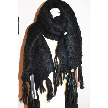 KMRii ・ケムリ・MISTY MOHAIR STOLE・ ユニセックスニットストール・BLK