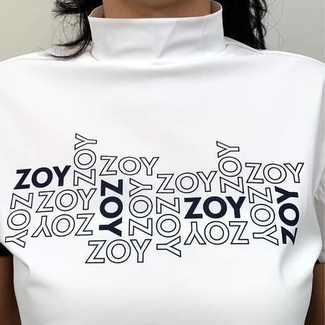 【ZOY】WOMENS ユーロジャージー半袖モックネック ホワイト/071612002