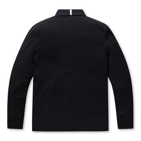 【WAAC】MENS プレイヤーズエディション クラシック長袖ポロシャツ ブラック/072304009