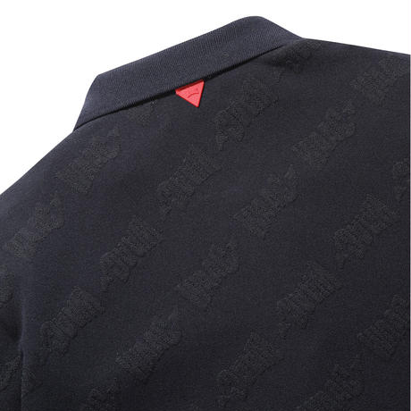 【WAAC】WOMENS ジャガードロゴ ポロシャツ ネイビー/072312057