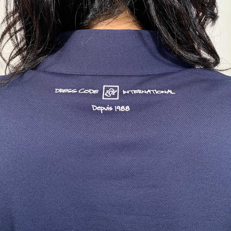 【ZOY】WOMENS ファンクショナルストレッチ鹿の子ポロシャツ ネイビー/071729071