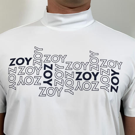 【ZOY】MENS ユーロジャージー半袖モックネック ホワイト/071412002