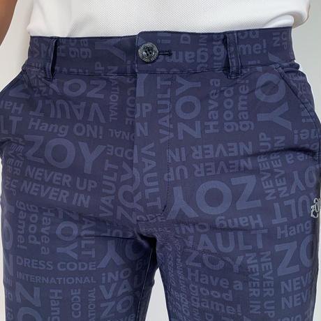 【ZOY】MENS シャドウロゴプリントジャージーハーフパンツ ネイビー/071412402