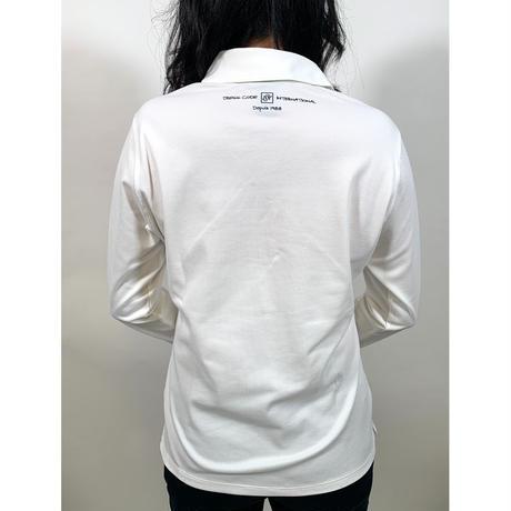【ZOY】WOMENS ファンクショナルストレッチ鹿の子長袖ポロシャツ ホワイト/071729072