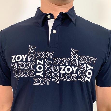 【ZOY】MENS ユーロジャージー半袖ポロシャツ ネイビー/071412006