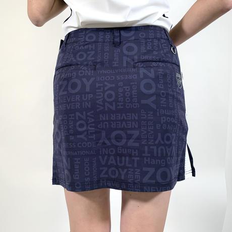 【ZOY】WOMENS シャドウロゴプリントジャージースカート ネイビー/071612300