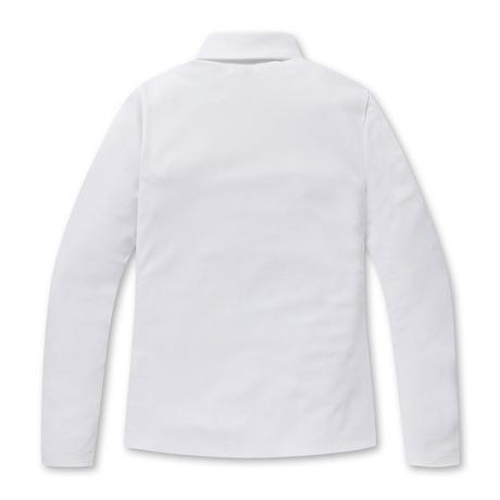 【WAAC】WOMENS プレイヤーズエディション 長袖ピケポロシャツ ホワイト/072304054