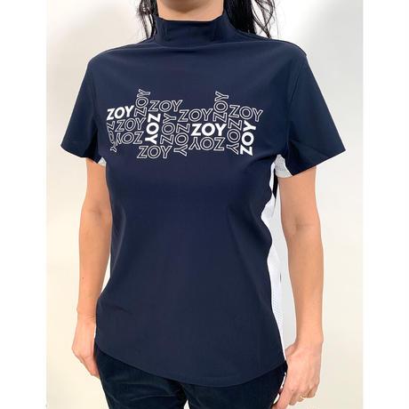 【ZOY】WOMENS ユーロジャージー半袖モックネック ネイビー/071612002