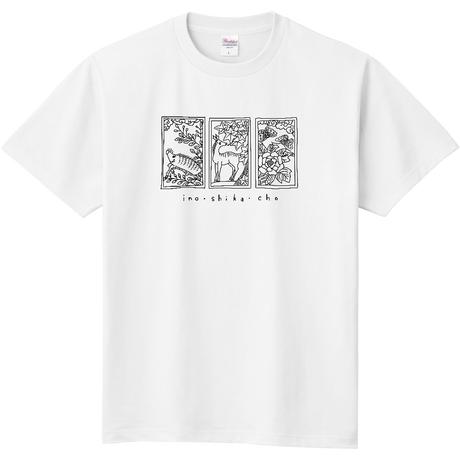 hanafuda Tシャツ  モノトーン