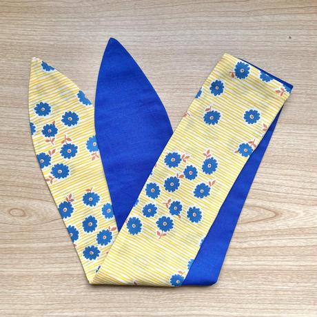 musubu つーとん*ターバン お花✖️群青色