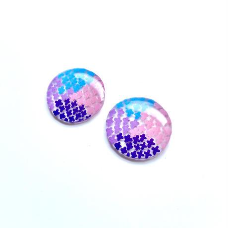 カラフルな紫陽花 ピアス&イヤリング