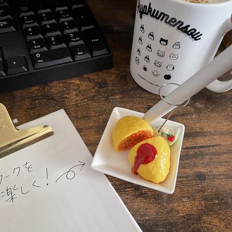 お腹が空くオムライス|ペンスタンド兼メモスタンド|机上の空腹