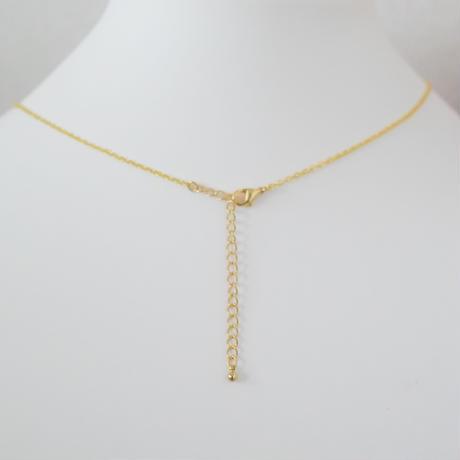 【オーダーメイド】コットンパールとタッセルのうちの子ネックレス・ゴールドカラー(1匹用)