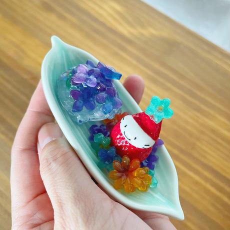 紫陽花の水まんじゅう|オブジェ(温度で色が変化)