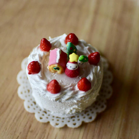 小さなXmas生クリームケーキ|オブジェ