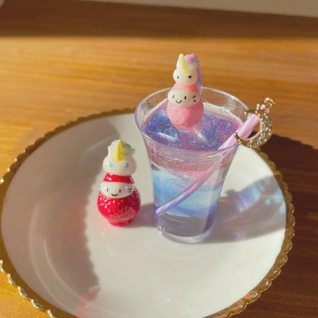 ユニコーンソーダの苺ぼうや ドリンクオブジェ