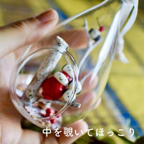 シマエナガちゃん|しずくガラス|オブジェ